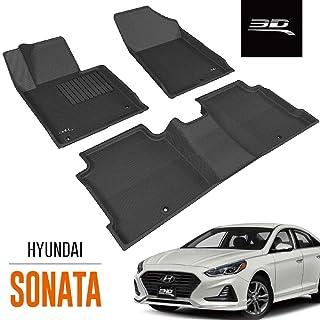 3D MAXpider All-Weather Floor Mats for Hyundai Sonata 2015-2019 / Sonata Hybrid 2016-2019 Custom Fit Car Floor Liners, Kag...