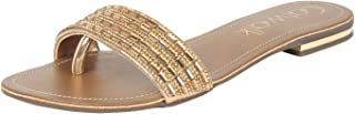 Catwalk Women's Embellished Thong Slip Ons