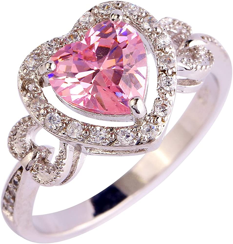 Psiroy Mail order 925 Sterling Silver New products world's highest quality popular Green Sha Amethyst Ring Flower Filled