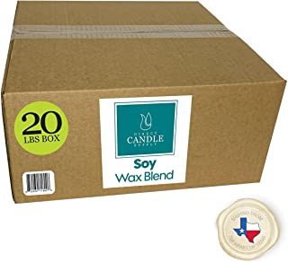 Direct Candle Supply -Soy Wax - 10 & 20 lb Smooth Blend for High Fragrance Load Ships from The Heart of Texas