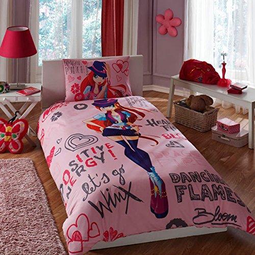 Winx Holiday Bloom Bettwäsche-Set für Einzelbett, gemischt