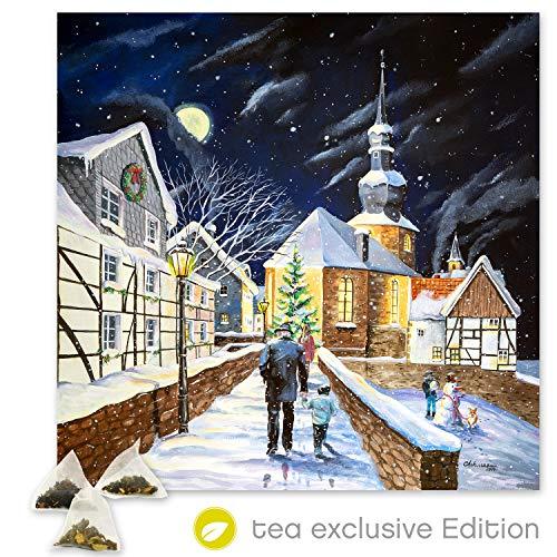 XL Tee Adventskalender 2019 (48x49cm!) 24 Pyramiden-Beutel, hochwertige Kräuter-, Früchtetees