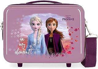 Disney Frozen Nature is magical Nececer Adaptable Morado 29x21x15 cms ABS