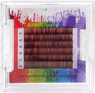 Valse wimpers, gekleurde wimpers geënte wimpers 0,07 dikte zijdeproteïne wimpers geënt beauty make-up natuurlijke dikke na...