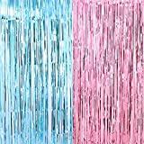 Shiny Fringe Curtains 3.2 ft x 6.6 ft Gender Reveal...