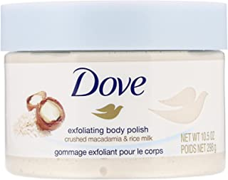 Dove Exfoliating Body Polish Crushed Macadamia & Rice Milk, 10.5 Ounce (Pack of 3)