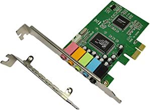PCIe Sound Card, 5.1 Internal Sound Card for PC Windows 10 with Low Profile Bracket, 3D Stereo PCI-e Audio Card, CMI8738 Strengthen the original Chip 32/64 Bit Sound Card PCI Express Adapter