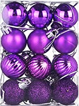 BEERICHH 24PC Christmas Tree Balls Ornament Lovely Bauble Hanging Home Party Decor Merry Christmas Gifts Decoration 30mm