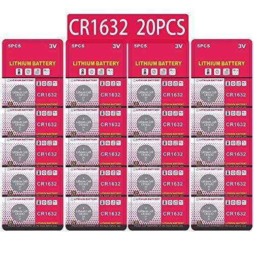 20 Stück CR1632 3V Lithium Knopfzelle Elektro CR 1632 Lithium
