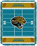 Officially Licensed NFL Jacksonville Jaguars 'Field' Woven Jacquard Baby Throw Blanket, 36' x 46', Multi Color