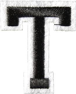 アイロンワッペン アルファベット 黒 (T)