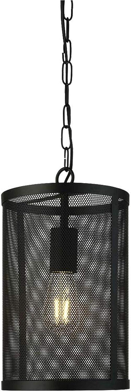 Lampe suspendue vintage salon penderie salle à hommeger pendule chaîne chaîne noire Projecteur 2481BK