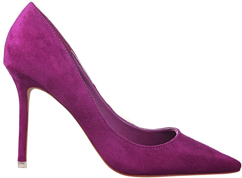 Women Pump Faux Suede Basic Sandals Solid colors Slip On High Heels 10 cm Sandals Sexy Pumps