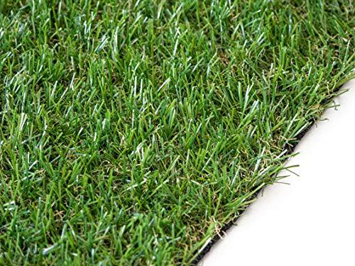 LUCATEX - Césped artificial Florida 2x5m - césped artificial de 20mm de altura - alta densidad - calidad profesional - césped artificial para terrazas, piscinas, exteriores, jardín, fácil instalación