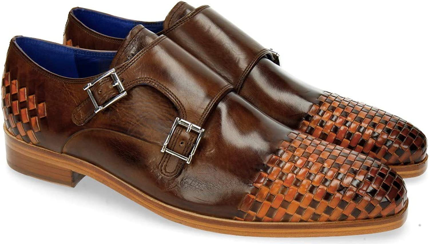 MELVIN & HAMILTON MH HAND MADE SHOES OF CLASS Lewis 16 Mid Brown Interlaced Orange B079NNCL8P  | Marke