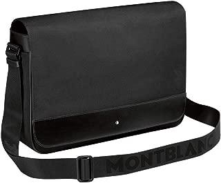 MONTBLANC NIGHTFLIGHT MESSENGER SHOULDER BAG BLACK LEATHER & CANVAS 113135