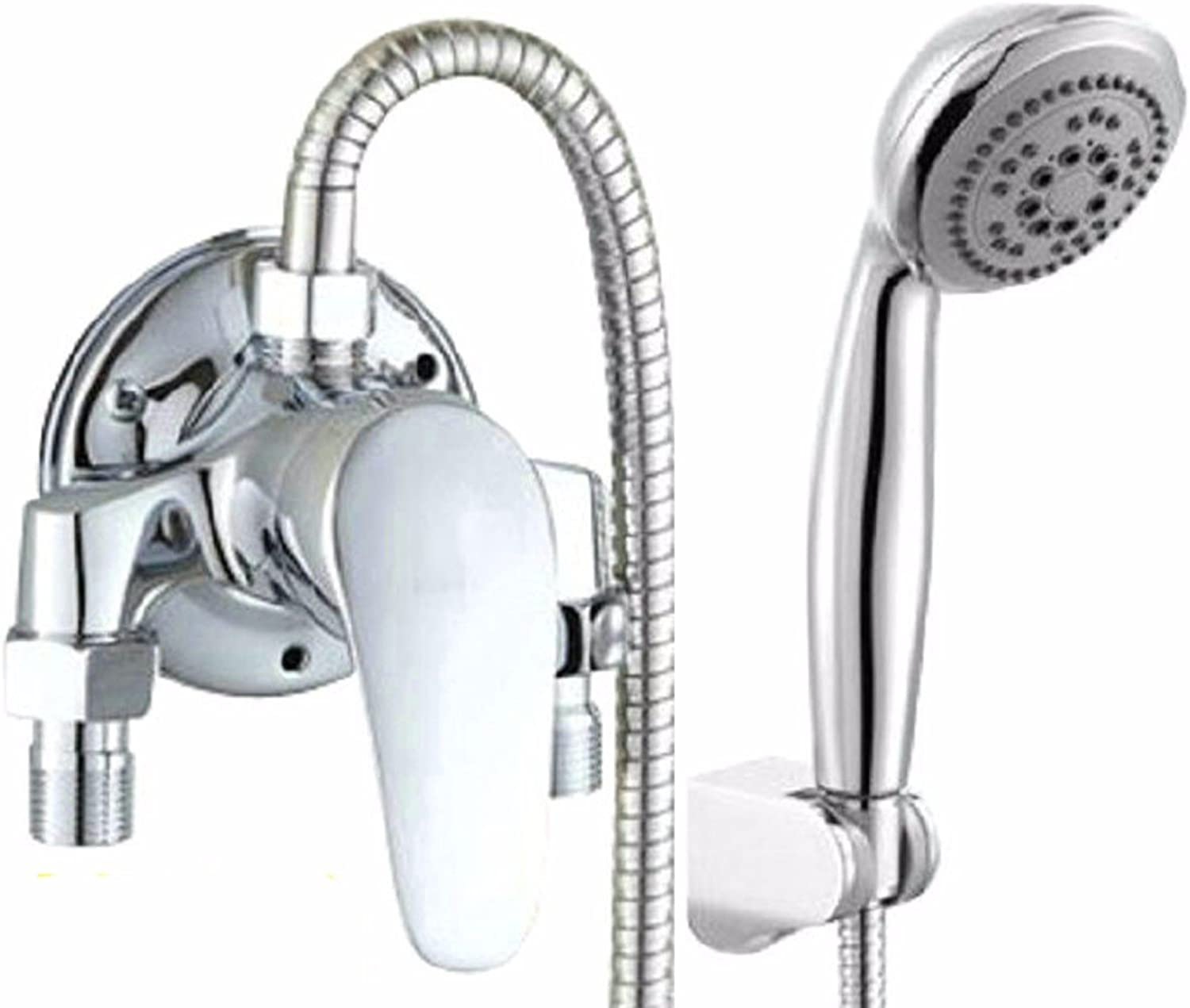 KaO0YaN-Tap Full Copper Shower Set, Open Tube hot and Cold Faucet Shower, Switch Water Heater Mixing Valve?, F