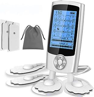 ESSEASON ElectroestimuladorMuscular Digital - Estimulador Muscular Recargable 16 Modos 2 Canales 6 Pads Masajeador Portatil paradolor Espalda Terapia de Alivio del Dolor Artritis Rigidez Muscular