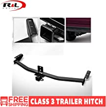 R&L Racing Black Class 3 Trailer Hitch Receiver Rear Bumper Tow Kit 2