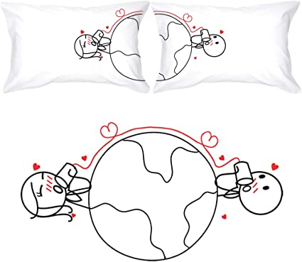 Couples pillows distance for long Long Distance