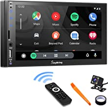 Car Stereo Compatible with Apple Carplay and Android Auto - Double Din Car Multimedia Player, 7 Inch LCD Touchscreen Monit...