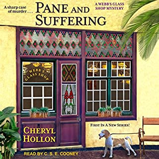 Pane and Suffering     Webb's Glass Shop Mystery Series, Book 1              By:                                                                                                                                 Cheryl Hollon                               Narrated by:                                                                                                                                 C.S.E. Cooney                      Length: 8 hrs and 28 mins     36 ratings     Overall 4.1