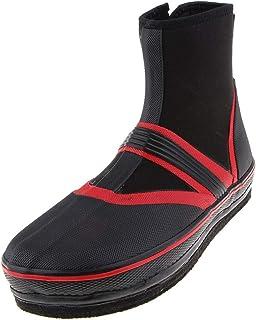 Sharplace 1 Par Botas de Pesca Zapatos Antideslizantes Clavos Picos Vadeo Seco