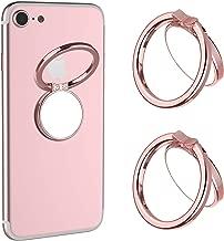 Mirror Cellphone Ring Stand Holder,VASIVO Smart Phone Ring Holder Series Stylish 360°Rotation 180°Flip Ring Stand Grip Mount for Smartphones (Rose Gold 2 Pack)