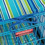 Pro Select Crate Pet Cotton Cover and Polyfilled Bed 2-Piece Set, Medium, Blue Stripe