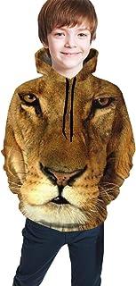 Lion Kids/Teen Girls' Boys' Hoodie,3D Print Pullover Sweatshirts