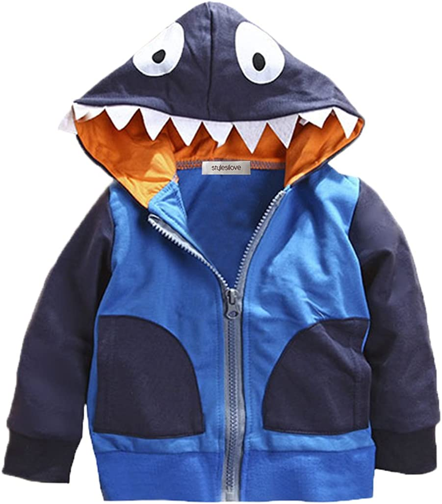 stylesilove Young Kids Boy Cute Animal 3D Hoodie Jacket Halloween Costume Cosplay Fall Outfit