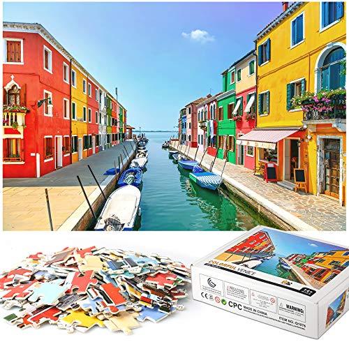 Rompecabezas Puzzle 1000 Piezas, Marvel Puzzle Casa Colores Puzzle Educa Inteligencia Jigsaw Puzzles con Marco Puzzles de Suelo para Niños Adultos