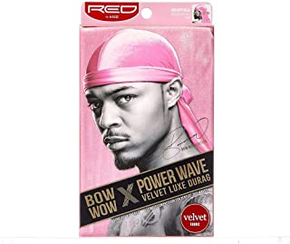 Red by Kiss Power Wave Velvet Luxe Durag, Pink