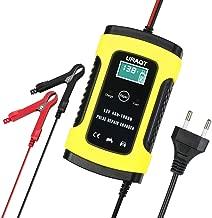 URAQT Batterie Ladegerät Auto, 6A 12V Batterieladegerät Auto Erhaltungsladegerät mit Mehrfachschutz für Auto, Motorrad, Rasenmäher oder Boot