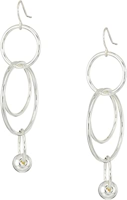 LAUREN Ralph Lauren - Metal Bead Orbital Linear Statement Earrings