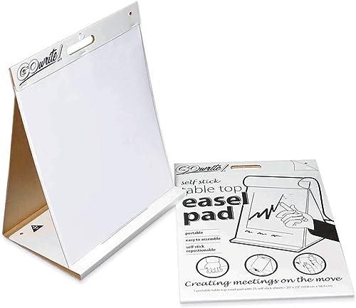 Gowrite. Self-Stick Chevalet de table Pad, 50,8x 58,4cm, 25feuilles