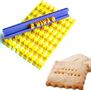Tool Gadget Cookie Stamps Set of 2 Parts Numbers Alphabet Stamps for Cookie Chocolate, 73pcs, 100% BPA free