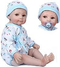 Lifelike Reborn Baby Doll with Soft Body Realistic Vinyl 20 Inch Newborn Doll Toys Age 3+, EN71 Certificatio