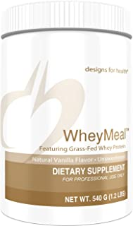 Designs for Health WheyMeal - Vanilla Grass Fed Whey Protein Powder with 16g Protein (15 Servings / 540g)