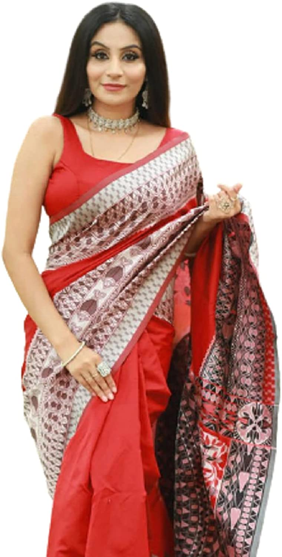 SKYBEAT Designer Red Max 90% OFF Color Banarasi Under blast sales South Saree Indian Styl Silk