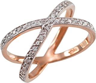 Fine 10k Rose Gold Diamond-Accented Double