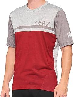 100% MTB-jersey korte mouw Airmatic Cherry/Grey