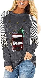 VigorY㉿ Women's Casual Long Sleeve Round Neck Loose Tunic T Shirt Blouse Tops Crew Neck Lightweight Pullover Sweatshirt