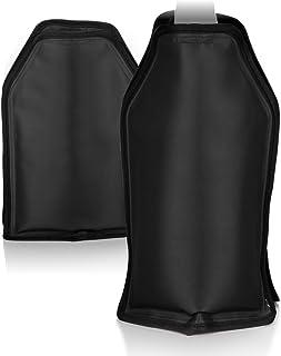 COM-FOUR® 2x Enfriador de botellas para el camino - manguito enfriador de champán con banda de goma - manguito enfriador de vino, cerveza y refrescos (negro)