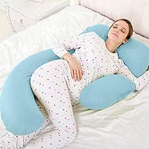 Novo 2.5Kg Pp Cotton Comfort Pregnancy & Maternity Pillow, Blue - 175X80X25Cm,