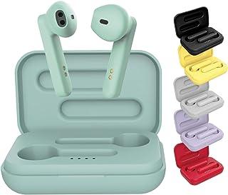 BE Pop Bluetooth-hörlurar 5.0 TWS – trådlösa hörlurar, stereo 3D HD, körtid 6 h, LED-laddningsfodral, lätt att ansluta, in...