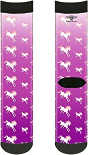 جوارب للجنسين من باكل-داون للبالغين يونيكورن سباركلز أرجواني/وردي، متعدد الألوان