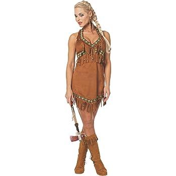 Stekarneval - Disfraz de india sexy para mujer, talla 38 (641738 ...