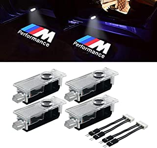KRADA Car Door LED Logo Light Projector Ghost Shadow welcome Lights for BMW M 3 5 6 7 Z GT Mini Series Symbol Emblem Courtesy Step Lights Kit Replacement(4-pack)