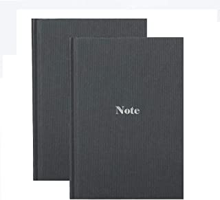 Kotooe 2 Pack Oxford Hard Cover Travel Notebook - Classic Ruled Writing Journal 160 Pages 70gsm Premium Thick Paper, Mediu...